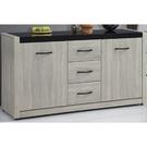 櫥櫃 餐櫃 SB-342-2 清心5.2尺鋼刷淺灰色碗盤櫃下座【大眾家居舘】