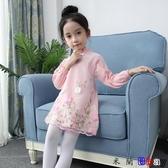 貝貝居 女童連身裙兒童旗袍裙子長袖公主裙
