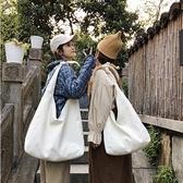 帆布日系復古簡約女收納袋側背包【櫻田川島】