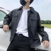 秋冬機車服皮衣男潮韓版修身青年飛行員夾克潮流男士外 『洛小仙女鞋』YJT