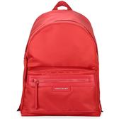 LONGCHAMP Le Pliage Neo系列厚尼龍後背包(亮紅色)480612-A27