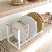 廚房用品免打孔置物架 不銹鋼碗碟收納架 簡約瀝水碗架鍋架【中秋節85折】