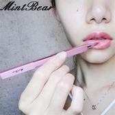 MintBear唇刷 便攜伸縮口紅刷 唇膏唇彩刷 帶蓋金屬管迷你化妝刷『櫻花小屋』