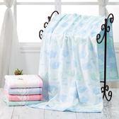 純棉紗布浴巾兩層柔軟吸水加大家用成人浴巾男女大毛巾親膚超薄款 艾尚旗艦店