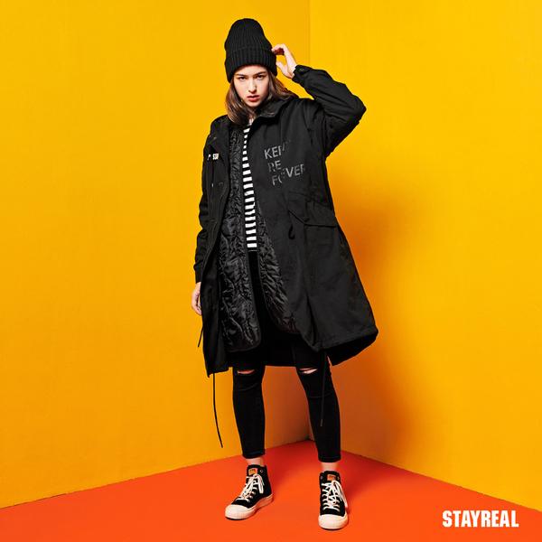 STAYREAL 經典真實2WAYS連帽外套