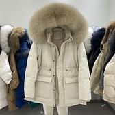 羽絨服 SOUL韓國2021冬季新款狐貍大毛領連帽羽絨棉服寬鬆收腰棉衣外套女 店慶降價