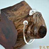 【金元寶】999純銀貔貅戲珠手環 B0422