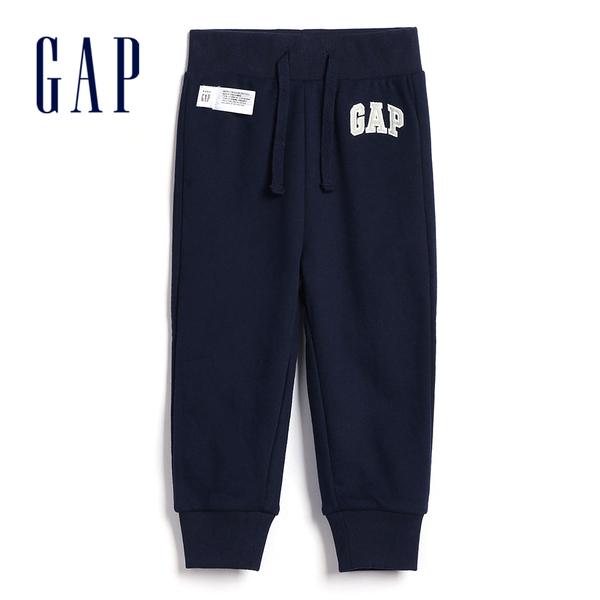 Gap男幼簡約純色鬆緊腰休閒褲567940-藏青色