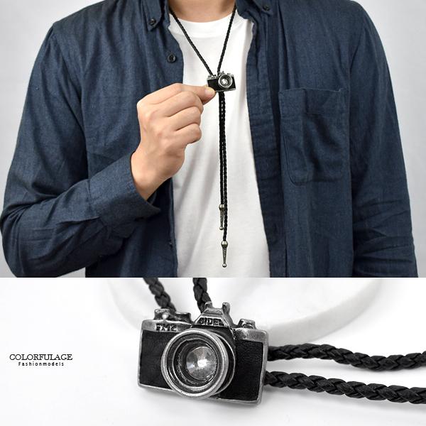 保羅領帶 復古水鑽單眼相機項鍊NB941