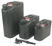 美式汽油桶5公升加厚柴油壺存儲備用油箱小鐵桶摩托車汽車加油不含上油管