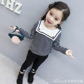 女童長袖t恤 新款秋裝小童兒童女寶寶洋氣秋冬加絨上衣打底衫 艾美時尚衣櫥