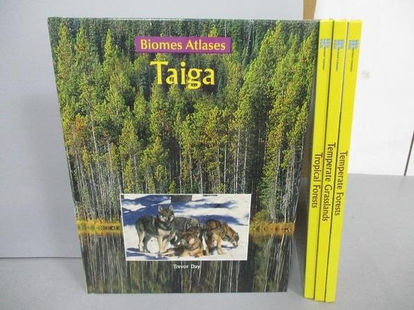 【書寶二手書T1/少年童書_PBG】Taiga Temperate Forests等_4本合售