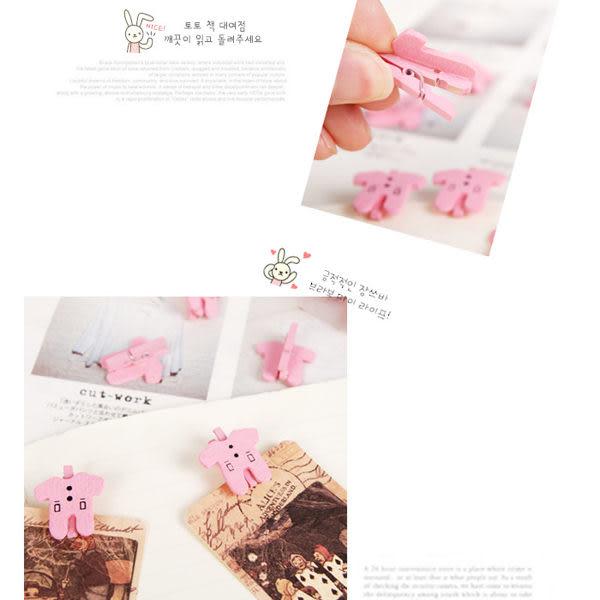 生活小物 彩繪衣服可愛造型木製小夾子/名片夾/卡片夾 4入