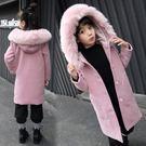 女童呢子大衣2019新款公主中長款外套 中大童冬裝大毛領女兒童毛呢上衣 保暖時尚百搭外衣