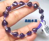 『晶鑽水晶』天然紫水晶手鍊搭配天然白水晶~早期商品亮透度超棒~特級品*免運費