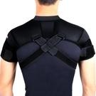 護肩帶 狂迷可調節式運動護肩帶透氣護雙肩籃排羽毛球護肩男女士運動護具 交換禮物