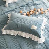 冬季珊瑚絨加厚保暖單枕套一只裝枕頭皮夾棉拉鏈款48*74 道禾生活館