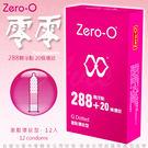 慾望之都情趣用品 保險套世界 避孕套  ZERO-O 零零衛生套 激點環紋型 保險套 12片 桃