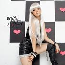 *MokoShop假髮專賣店*Cosplay造型特殊色齊劉海長直髮全頂假髮【LY584C】-預購商品,付款後2-3周到貨