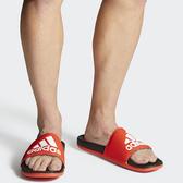 ADIDAS ADILETTE CLOUDFOAM PLUS 男鞋 女鞋 拖鞋 休閒 柔軟 紅【運動世界】F34722