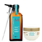 摩洛哥優油 「組合」 護髮油 一般型125ml +經典芭特身體乳50ml