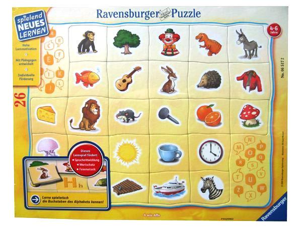 【Ravensburger 維寶(RV)】平板拼圖-我的字母ABC(26片) #065172