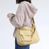 斜背包 素色 拉鍊 帆布包 休閒 斜挎包 學院風 單肩包--單肩包/斜背包【AL450】 icoca  04/25
