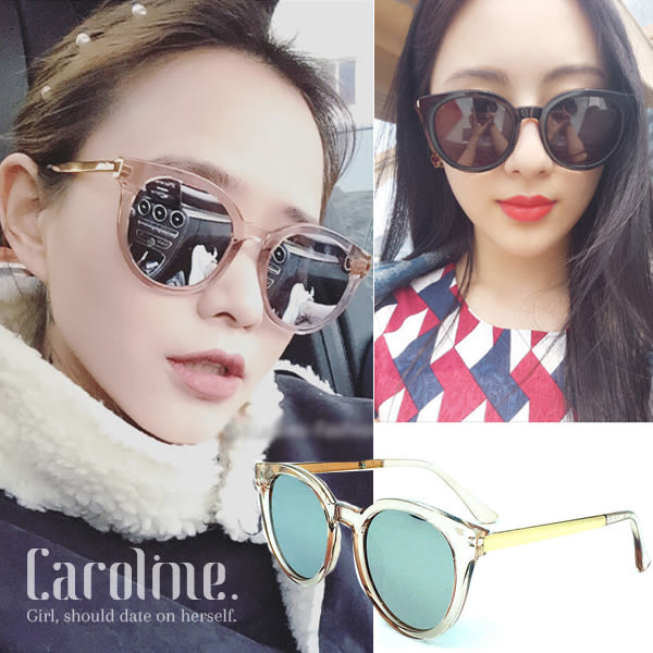 《Caroline》★年度最新.方框金邊墨鏡網紅款潮流行時尚百搭明星抗UV太陽眼鏡 69323 標檢局D74321