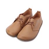 LUZZI 牛皮圓頭休閒鞋 棕 女鞋