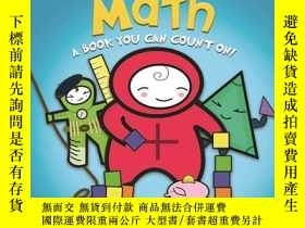 二手書博民逛書店英文原版罕見好玩的科學書:數學 Basher Basics: Math: A Book You Can Count