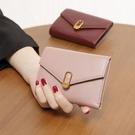 軟皮2020韓版新款小眾設計師錢包ins女短款摺疊皮夾錢夾純皮