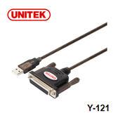 UNITEK 優越者 Y-121 USB to DB25F 轉接線