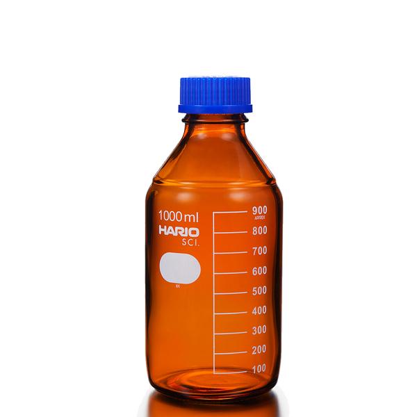 HARIO 茶色血清瓶 銀染處理 化工瓶 環保水瓶 Glass Bottle 耐熱玻璃 1000ml
