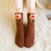 睡覺襪子女睡眠襪聖誕地板襪成人加厚加絨硅膠防滑中筒襪韓國春夏季