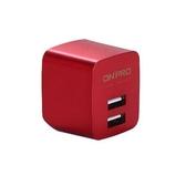 ONPRO UC-2P01 金屬 雙USB充電頭(5V/2.4A) 紅