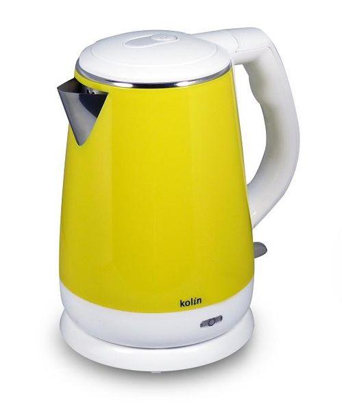 《省您錢購物網》福利品~歌林1.5L 古典黃 雙層防燙不銹鋼快煮壺(PA-PK1500)