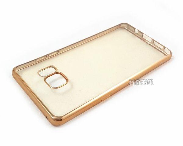 【XO】電鍍邊框透明軟殼 Samsung N930FD Galaxy Note 7