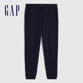 Gap男裝 簡約風格基本款鬆緊針織褲 618887-海軍藍