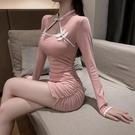旗袍 2021年春秋新款氣質年輕款改良版旗袍少女性感包臀緊身顯瘦連身裙 非凡小鋪