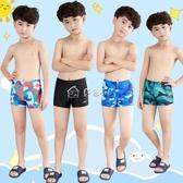 男童泳衣 兒童泳褲男童泳衣青少年中大童小寶寶溫泉學生專業速干游泳褲 多色小屋
