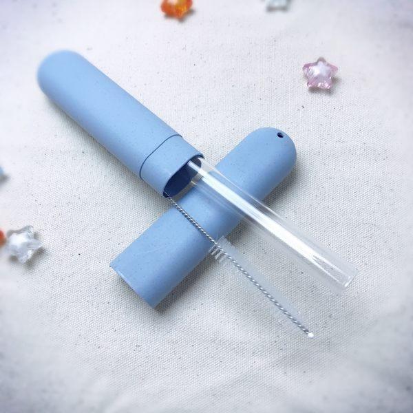 easy 環保小麥梗玻璃吸管保護管/旅行防水牙刷收納盒 可放 20cm以下玻璃吸管, 筷子, 牙刷 Lohogo