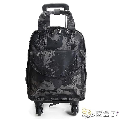 拉桿袋-法國盒子.時尚都會可拆式後背/拉桿袋(共二色)13019/13050
