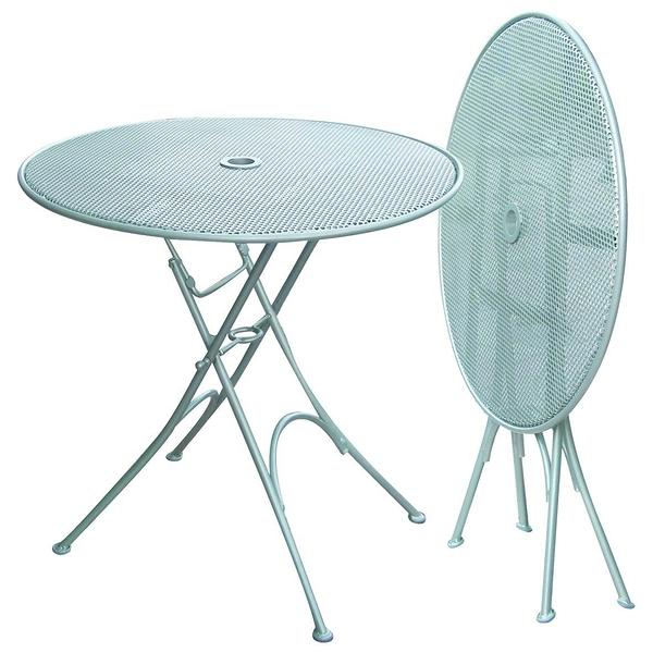 【南洋風休閒傢俱】戶外休閒系列-70公分半鋁折桌   戶外休閒餐桌   洞洞折合桌  #77280MS