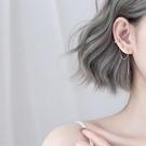 銀長款耳線簡約氣質2019新款潮耳環韓國個性冷淡風耳骨夾耳飾女