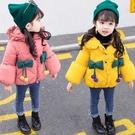 兒童棉服女 女童棉衣2021新款中長款洋氣冬裝小童外套女寶寶羽絨棉服加厚【快速出貨八折下殺】
