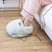 居家家可拆卸毛絨暖腳寶usb加熱暖腳捂 冬季大號安全女暖身暖腳套  提拉米蘇