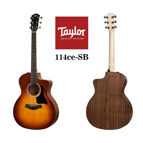 小叮噹的店 - Taylor 114CE-SB 雲杉木 面單 夕陽漸層色 電木吉他 泰勒吉他 1系
