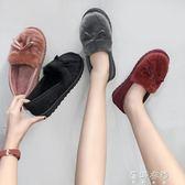 毛鞋 毛毛鞋懶人豆豆鞋棉鞋加絨加厚保暖女鞋 蓓娜衣都