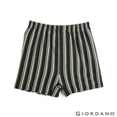 【GIORDANO】男裝高品味沈穩條紋配色四角褲(97 深灰x綠條)