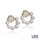 ides愛蒂思 時尚輕珠寶淡水貝珠耳環/氣質